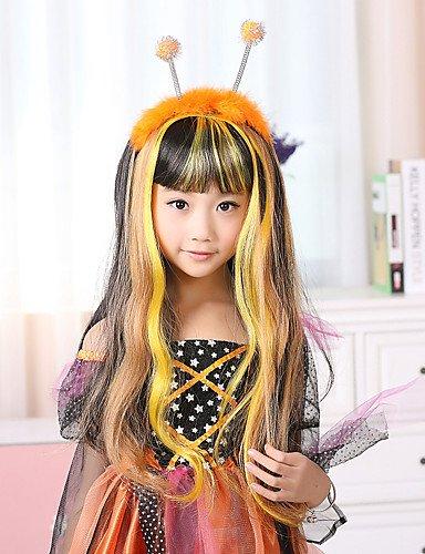 100% Kanekalon peluca sintética del Pequeño Ladybug Diseño Niños para el Festival Fiesta