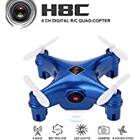 WLtoys Remote Controlled Rechargeable Mini Set High Wifi Quadcopter with Wifi HD Camera(Blue)