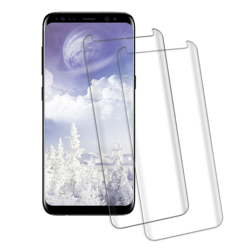 Galaxy S9 Screen Protector, 3D Screen Coverage Glass [Easy to Install][9H Hardness][HD][Case Friendly][Anti-Fingerprint] Tempered Glass Screen Protector Compatible with Samsung Galaxy S9 [2 Pack] Acedining