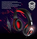 Britz K35GH Over-Ear LED Lighting Gaming Headphone- Sound Clarity, Neodymium 40mm Driver, LED Lights, Soft & Comfy Ear-Pads