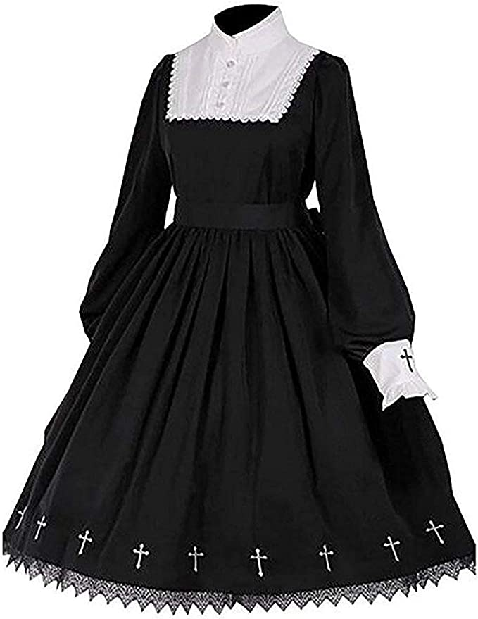 Lolita Gothic Dress Vintage Cross Embroidery Princess