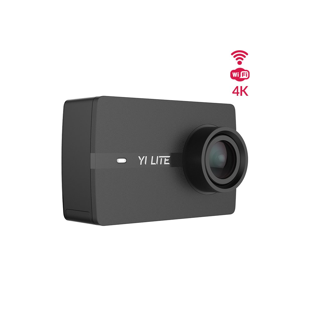 YI Lite Action Camera, Sony Sensor 16MP Real 4K Sports Camera, 2 Inch Touchscreen,150° Wide Angle Lens and EIS- Black