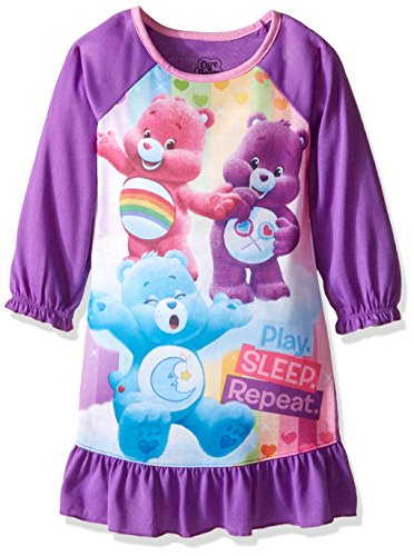 Care Bears Girls' Toddler Sleep Gown, Purple, 3T -