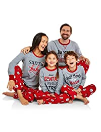 YLIANG Christmas Matching Family Pajamas Set Sleepwear Nightwear Homewear
