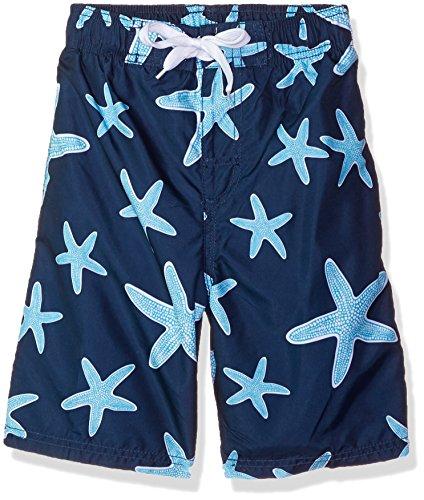 Kanu Surf Boys Starfish Sea Life Quick Dry Beach Board Shorts Swim Trunk