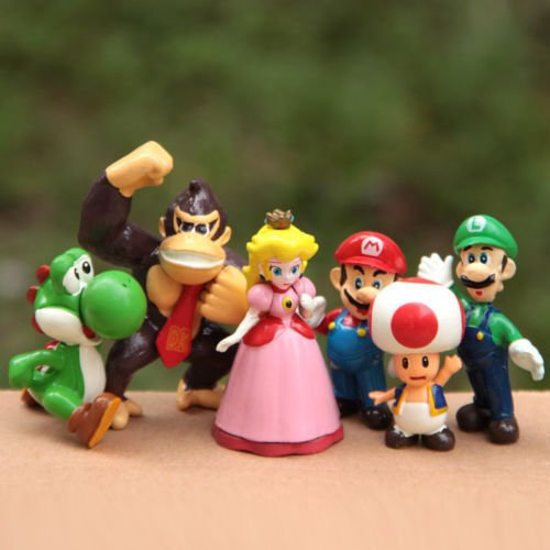 New 6 Pcs/Set Super Mario Bros PVC Action - Mario House Shoes