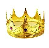 Tytroy Royal King Gold Jeweled Plastic Dress Up