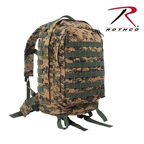 Rothco Molle Ii 3-Day Assault Pack-Woodland Digi