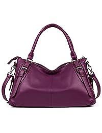 BOSTANTEN Vintage Leather Handbags Shoulder purse tote Crossbody Bag for Women
