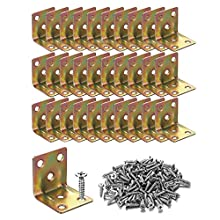 30PCS Heavy Duty Corner Braces L Shape Brackets 30x30x30mm, 90 Degree Joint Right Angle L Bracket for Furniture Wood Cabinets Shelves,Package Include Screws