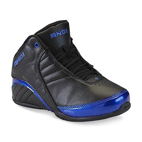 UND 1 Herren Rocket 3.0 Mid Basketballschuh Schwarz / Blau / Schwarz