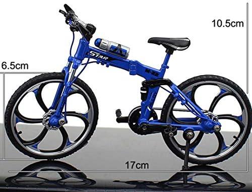 [해외]MEIQING Alloy Foldable Mini Bike Finger Bike Excellent Functional Miniature Metal Toys Finger Mountain Bicycle Cool Boy Toy Creative Toy (Blue) / MEIQING Alloy Foldable Mini Bike Finger Bike Excellent Functional Miniature Metal Toy...