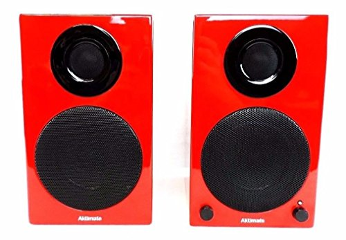 Aktimate Micro Red 2-way Active Speaker System with iPod Dock by Aktimate