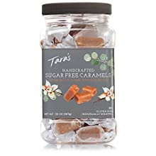 Tara's All Natural Handcrafted Gourmet Sugar Free Caramel: Small Batch, Kettle Cooked, Creamy & Individually Wrapped - 20 Ounce
