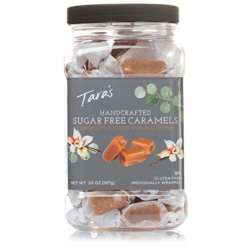 Taras All Natural Handcrafted Gourmet Sugar Free Caramel: Small Batch, Kettle Cooked, Creamy & Individually Wrapped - 20 Ounce