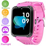 Kids Smartwatch Phone for Boys Girls - Games Smart Toy Watch with 1.54'' HD Touch Screen 2 Way Call Camera Flashlight Unlocked Phone Digital Bracelet for Summer Outdoor Sports Watch (Pink)