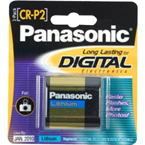 Panasonic CR-P2 Photo Lithium Battery Retail Pack - Single