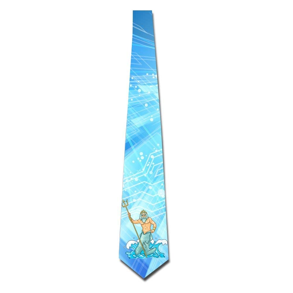 LVOE TTL Corbata floral impresa de los hombres Poseidon Handle ...