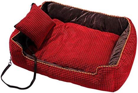 犬猫用のベッド、 防水/ボトム/レッド、ブラウンをきれいに犬のベッド/猫ソファベッド/猫と小中大犬のベッドクッション/取り外し可能なウォッシャブル/簡単 (Color : Red, Size : XXL)