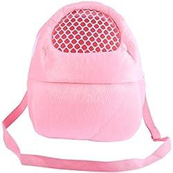 Yosoo Pet Carrier Bag Pet Pocket,2125cm Pet Carrier Breathable Pocket Hamster Rabbit Ferret Travel Sleeping Hanging Bed Bag (Pink)