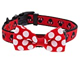 Disney Parks Minnie Mouse Polka Dot Bow Dog Pet Collar Small