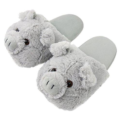 Grey Home Slipper Memory Slippers Animal House Outdoor Cozy Women Indoor Foam Pig Komyufa 0FPBC