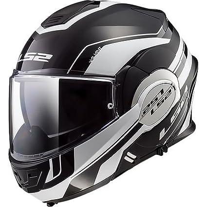 Amazon.com: LS2 Valiant Helmet - Lumen (MEDIUM) (MATTE BLACK ...