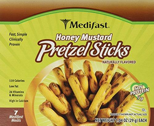 Medifast Honey Mustard Pretzel Sticks 1 Box (7 Servings) by Medifast
