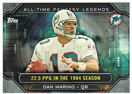 2015 Topps All Time Fantasy Legends  ATFL-DM Dan Marino Dolphins NFL  Football Card ae6a48300