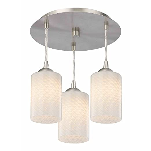 Amazon.com: 3-Light Semi-Flush Techo Luz con Blanco Art ...