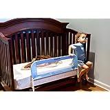 Dream On Me Mesh Security Crib Rail, Blue