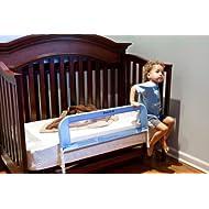 Dream On Me Mesh Security Crib Rail Blue