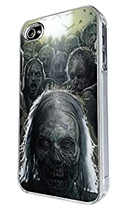 Iphone 5 5S walking dead zombie design case Back Cover Metal and Hard Plastic Case-Clear Frame