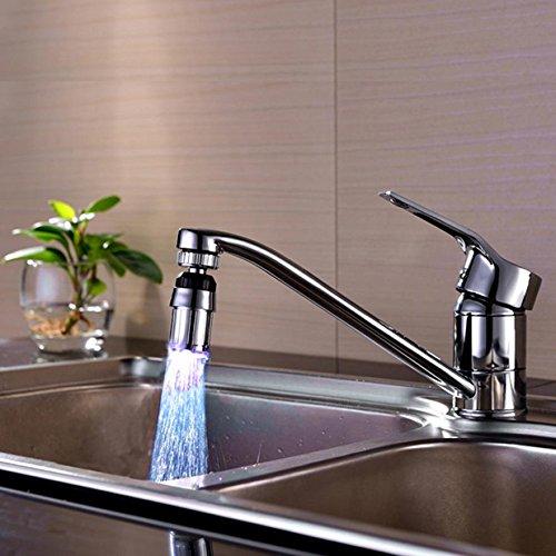 Labu Store 2017 Kitchen Sink 7Color Change Water Glow Water Stream Shower LED Faucet Taps Light levert dropship 2Jun27