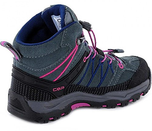 C.P.M. Rigel Mid Wp - Zapatos Unisex Niños Gris (Grey-hot Pink)