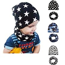 Baby Boy's Knit Beanie Hats Toddlers Star Caps Kids Cool Soft Hats for 3 Pack