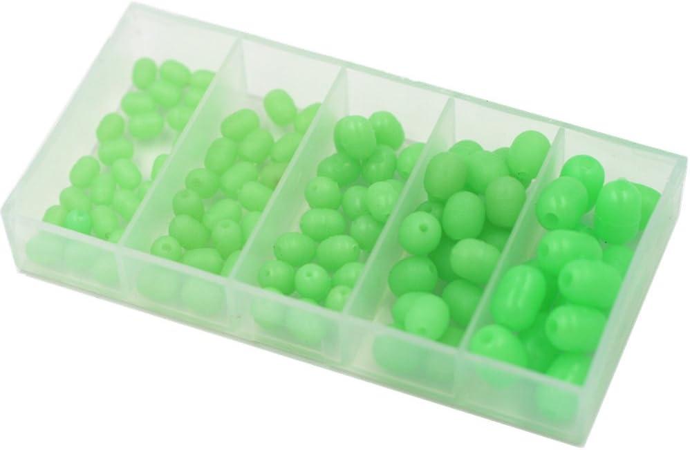 300Pcs Oval Luminous Fishing Beads Glow Lure Floating Float Tackles 4 Sizes