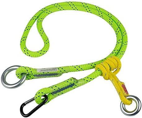 "ROPE Logic 5/8"" X 10' Adjustable Friction Saver with Accessory Carabiner Rope, Green"