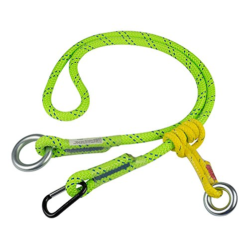 ROPE Logic 5/8'' X 10' Adjustable Friction Saver With Accessory Carabiner Rope, Green by ROPE Logic