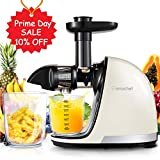 Slow Juicer,AMZCHEF Slow Masticating Juicer Extractor Professional Machine with Quiet Motor/Reverse Function,Cold Press