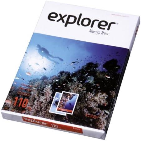 EXPLORER - Papel blanco multiusos para impresora - A4 110gr - 8 ...