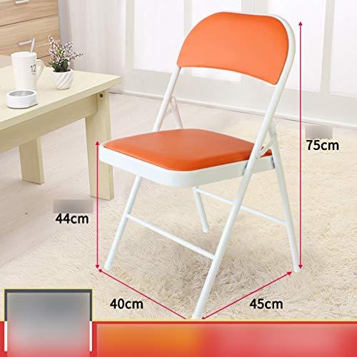 Yunyisujiao hopfällbar stol kontorsstol sovsal stol med ryggstöd hopfällbar stol datorstol enkel stil flera färger tillval (färg: Rosa)