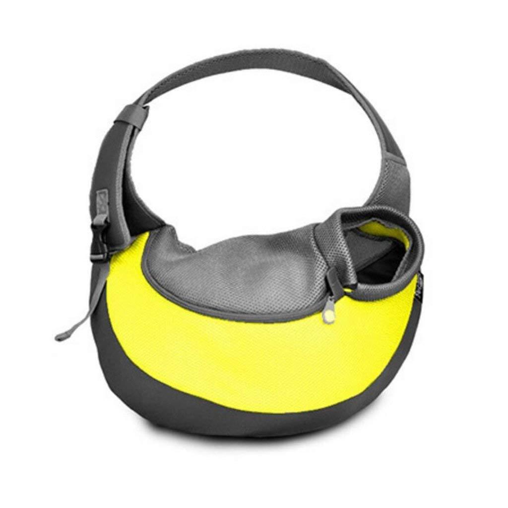Pet Bag Out Over Shoulder Bag Portable Storage Cat Messenger Bag Outdoor Travel Cat Pet Backpack Forniture 20 * 35 * 8.5cm Multi -color Optional (colore: giallo, dimensione: 20x35x8.5cm)