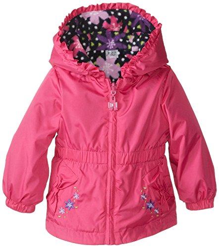 London Fog Baby Girls' Reversible Jacket, Pink, 18 Months