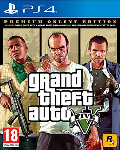 Grand Theft Auto V - Premium Online Edition (PS4) (The Best Ps Vita Games 2019)
