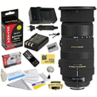 Sigma 50-500mm f/4.5-6.3 APO DG OS HSM Lens (738306) With 3 Year Extended Lens Warranty For the Nikon D40 D40x D60 D3000 D5000 DSLR Camera Includes - Replacement Battery Pack for the Nikon EN-EL9 2000MAH + 1 Hour AC/DC Battery Charger + Deluxe Lens Cleaning Kit + LCD Screen Protectors + Wireless Shutter Release Remote Control + Mini Tripod + 47stphoto Microfiber Cloth + $50 Photo Print Gift Card!