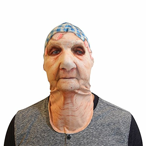 Old Lady Mask - One Size Fits Most (Lady Costume Mask)
