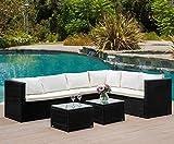 Garden Corner Sofa 6 Seater Rattan Sofa Set Garden Outdoor Rattan Furniture Sofa Set