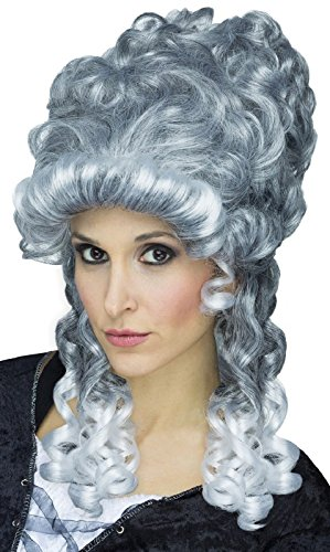 Victorian Wig Adult Lady - Fun World Unisex-Adult's Ghostly Lady Wig, silver, standard