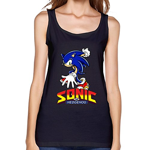 AOPO Summer O-Neck Sonic The Hedgehog ACT Tank Top For Women (Super Sonic Costume)